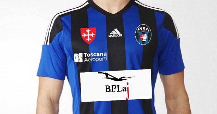 BPLaj game sponsor sulla maglia del Pisa Calcio