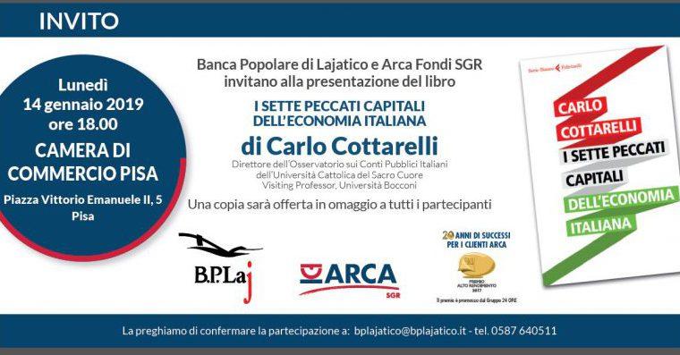 BPLaj: Carlo Cottarelli a Pisa il 14 gennaio 2019